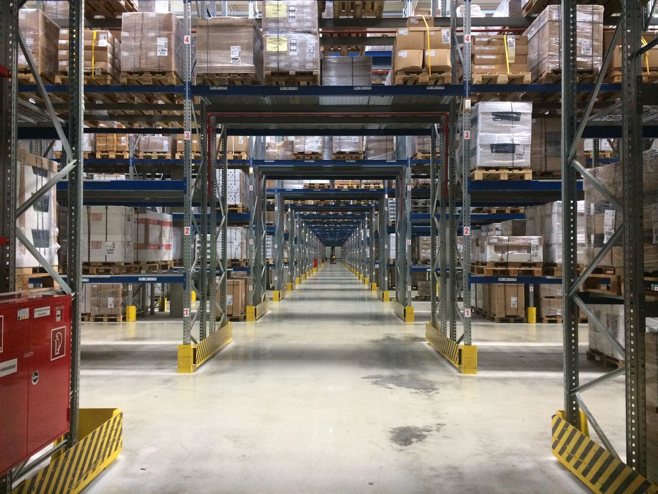 Biggest logistic warehouse in Dortmund, Germany Business Finance And Industry Career Cargo Commercial Factory Industry Industry Inventory Logistics Management Packaging Shipping  Shipping  Solution Stock Storage Storage Room Store Supply System Technology Transportation Warehouse Work Working