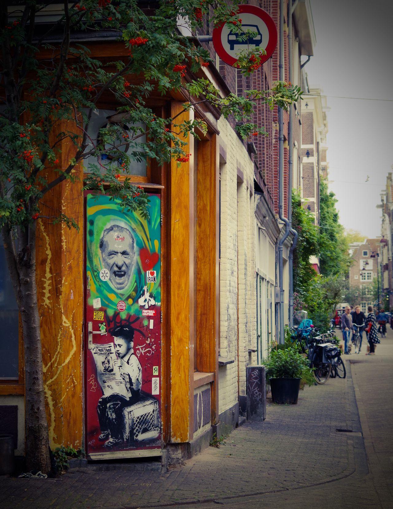 Streetphotography Streetart Human Representation City Amsterdam Door
