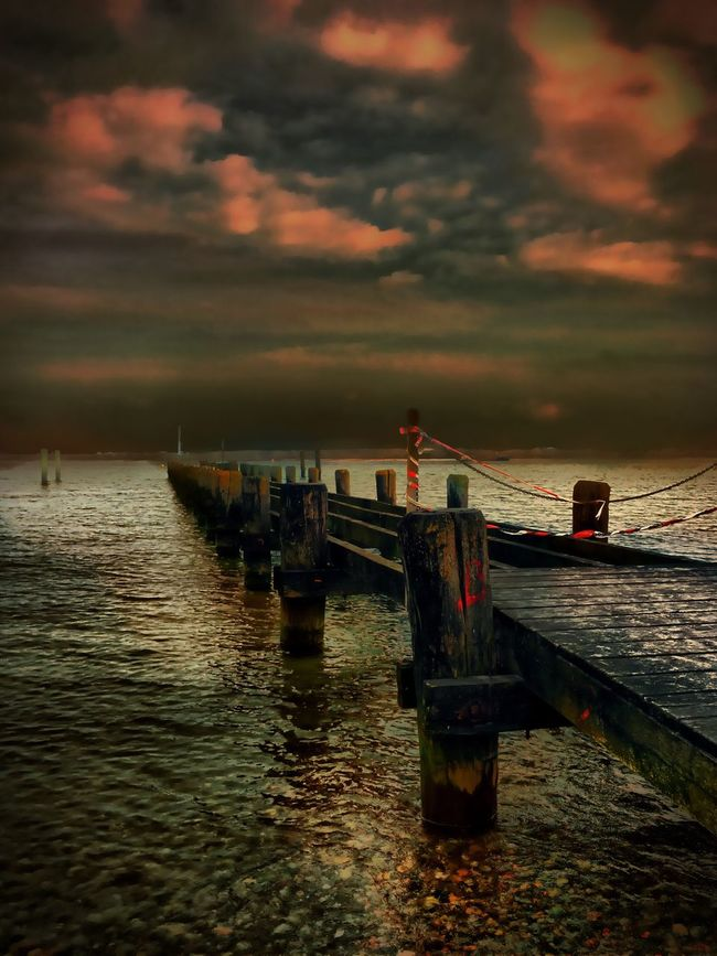 Travemünde Beach Lübeck GERMANY🇩🇪DEUTSCHERLAND@ Check This Out Hdr Edit Hdr_Collection Hdr_lovers Germany My Travel Beautiful Sunset Sea And Sky