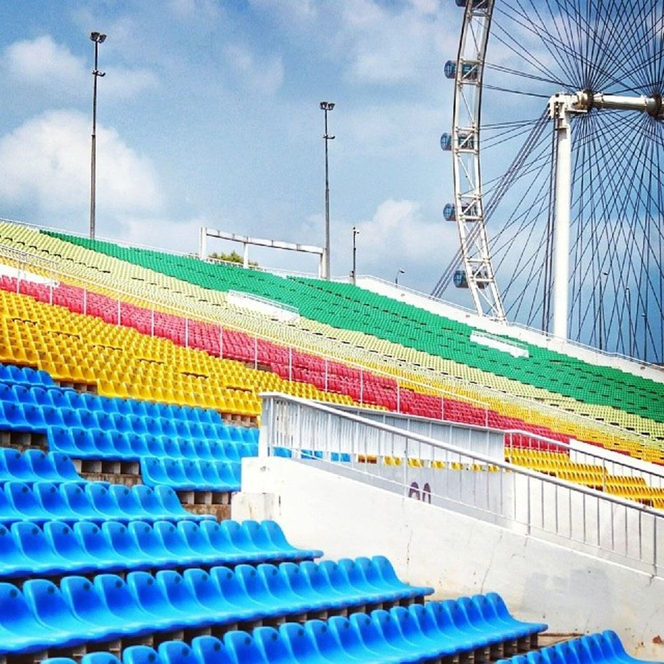 Empty stadium. Marinabay Sgflyer Clouds Architecture_hunter igers instagramhub instadaily