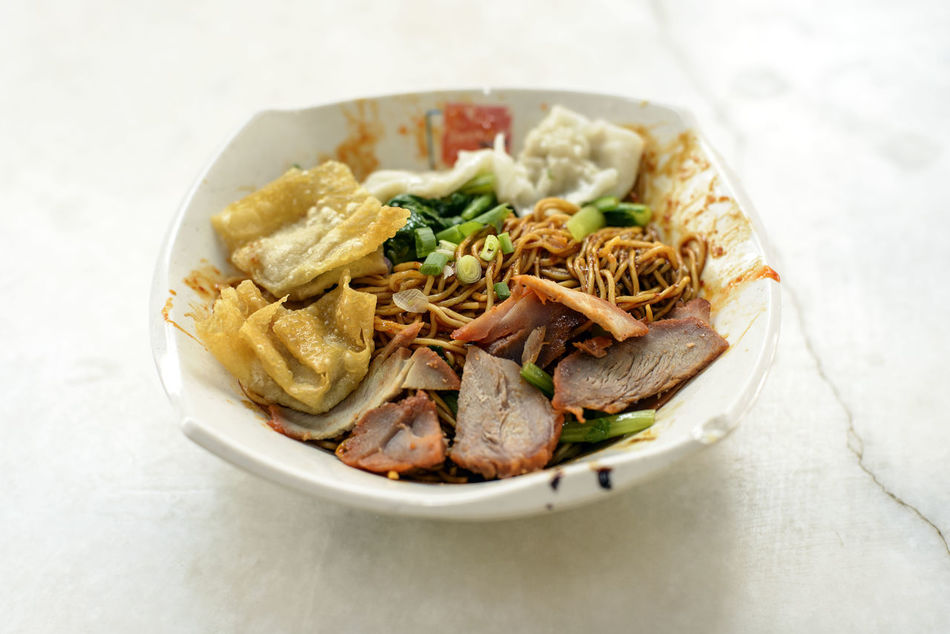 Bowl Char Siew Charsiew Close-up Day Food Food And Drink Freshness Garnish Healthy Eating Indoors  No People Noodles Plate Pontien Ready-to-eat Table Wanton Wanton Noodles