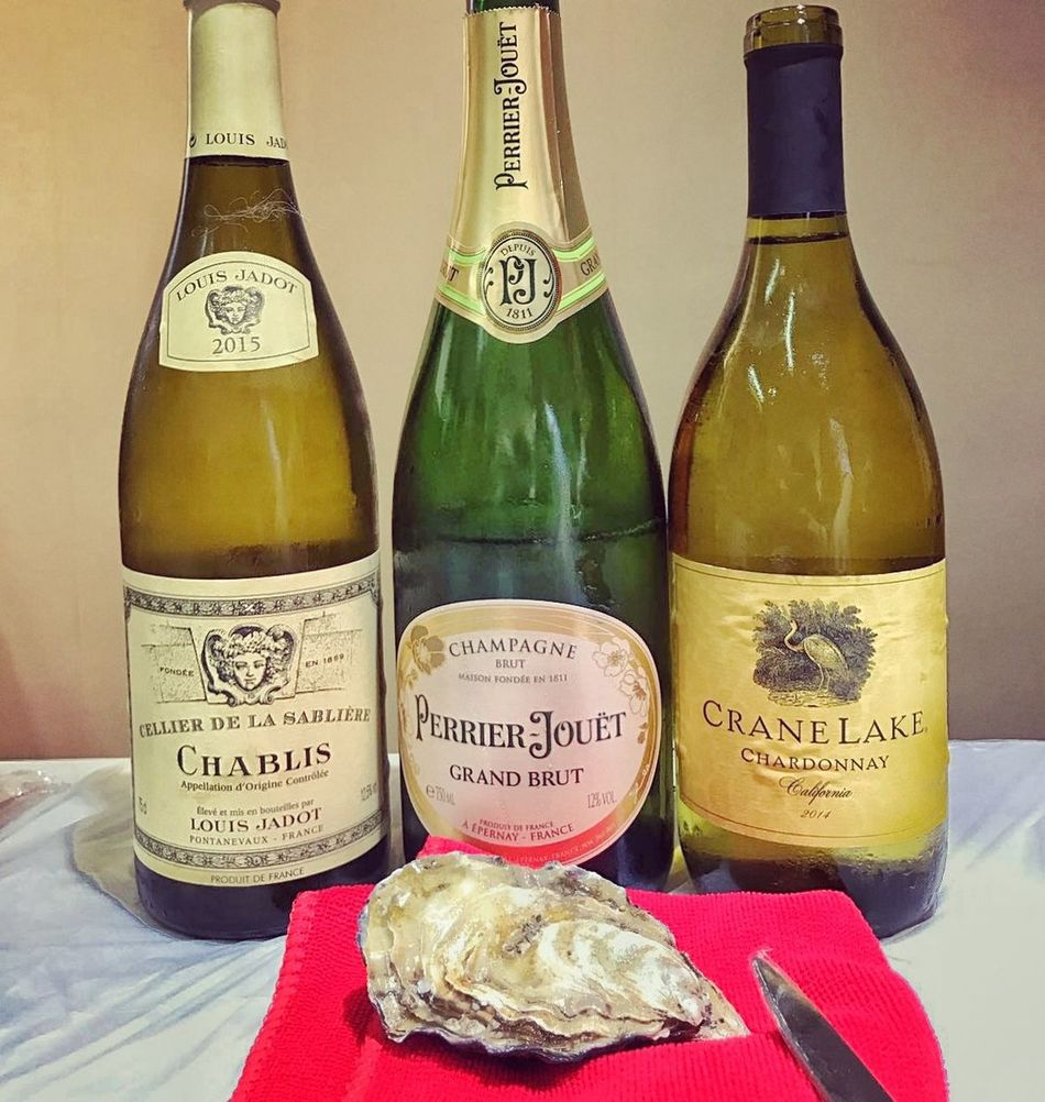 The World Is Your Oyster. Start Shuck It. And Find Your Pearl Oystershucking Irishrock Scottishrock HongKong Alcohol Drink Bottle Finedeclaire Geay Gillardeau Chablis  PerrierJouet Cranelake Lifestyles Bottles !!!! Oysters FoodPairing Likered Drink Label Food Alcohol