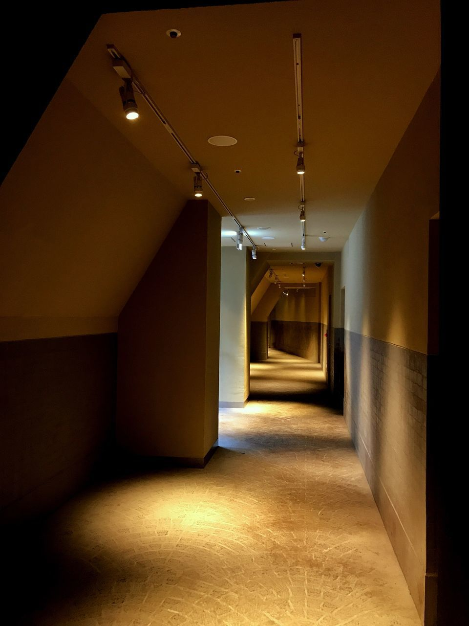 the way forward, architecture, illuminated, empty, indoors, corridor, built structure, ceiling, no people, day