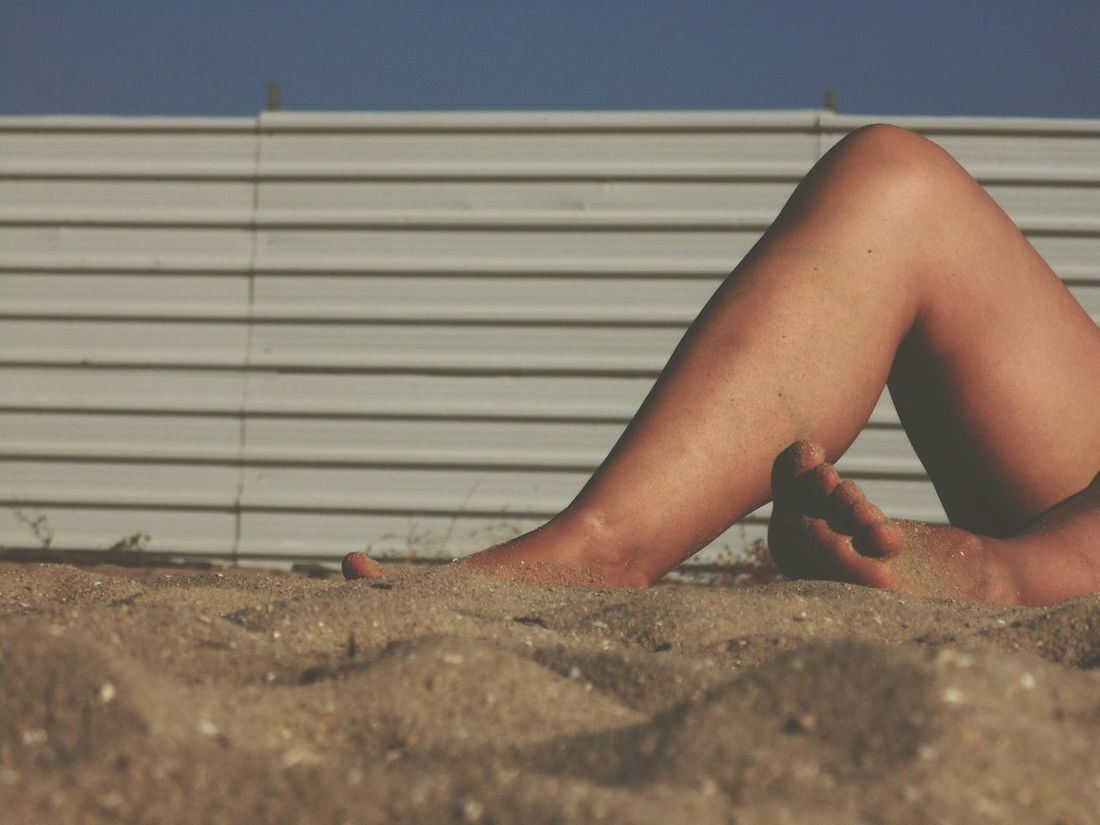 Low Section Person Lifestyles Relaxation Human Foot Relaxing Leisure Activity EyeEm Best Shots EyeEm Gallery Tourism Part Of Personal Perspective Beach Bum Beach Sand Ant View Woman Legs Beach Photography Beach Life