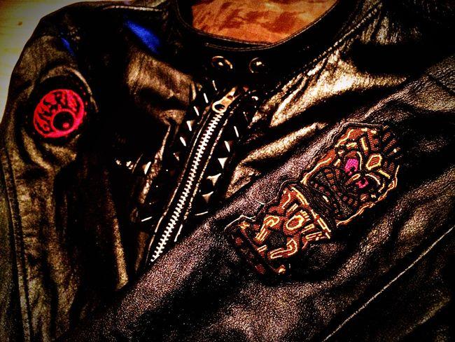 Leather Custom DIY Blackpaint Studs Gnarly Redeyes Tiki Kuu Armstrong