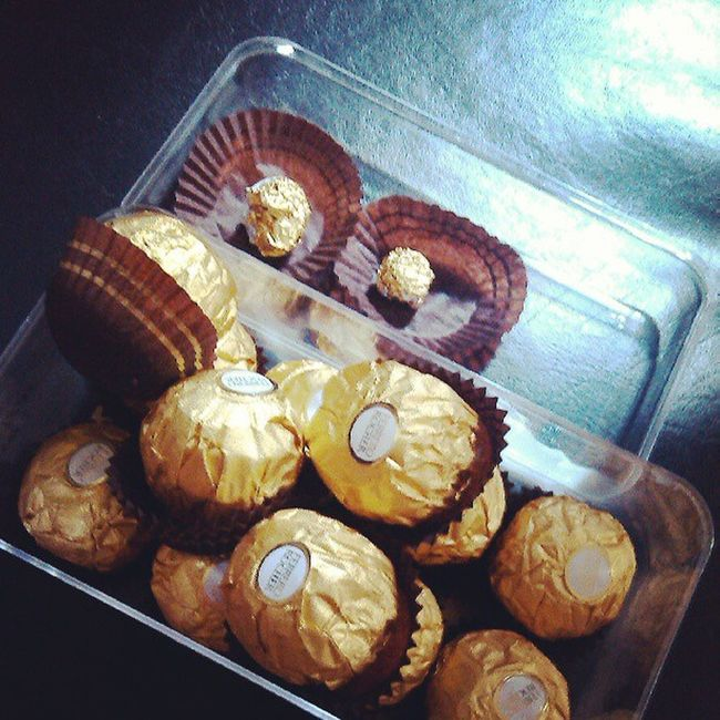 Bonding over Ferrero chocs with my girl from hubby with love.. :) Food Is 💕
