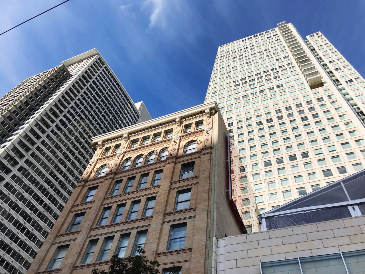 Summer in the city // Building Exterior Architecture Built Structure Low Angle View Skyscraper City Sky Tower Day Outdoors No People Modern