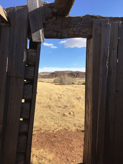 EyeEmNewHere American West No People Day Landscape Sunlight Window Arid Climate Outdoors Cabin Historic Red Hills Colorado Colorado Photography Colorful Colorado Quiet Places Breathing Space Lost In The Landscape