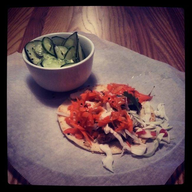 Thai Chicken Taco and Cucumber Salad TaqueriaTsunami