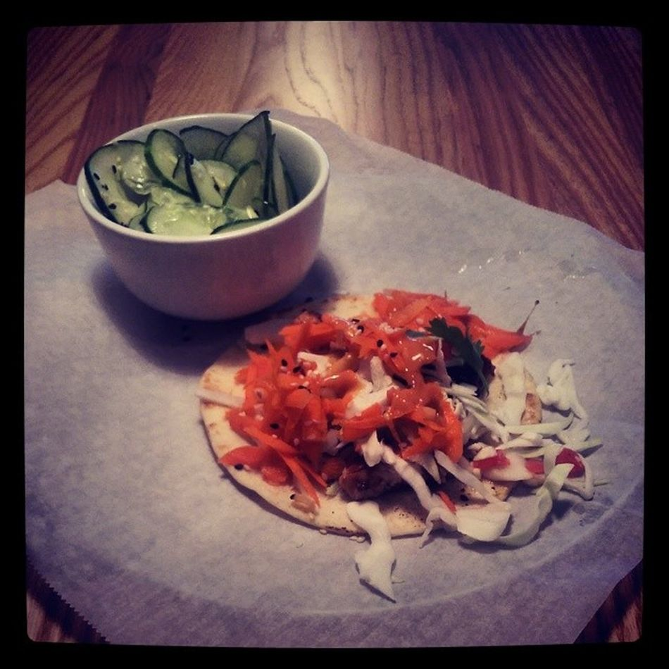 Thai Chicken Taco and Cucumber Salad TaqueriaTsunami