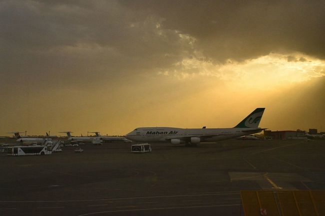 Sunset in Mehrabad Airport and perfect view of Boing B747 from Airport Terminal . Travel Photography Clouds And Sky Iran♥ Sky Collection Airplane
