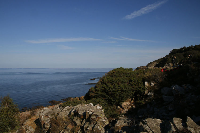 Beauty In Nature Calm Cliff Geology Horizon Over Water Hovs Hallar Majestic Mountain Physical Geography Scenics Sea Seascape Sky Sweden Tourism Tranquil Scene Vacations Water