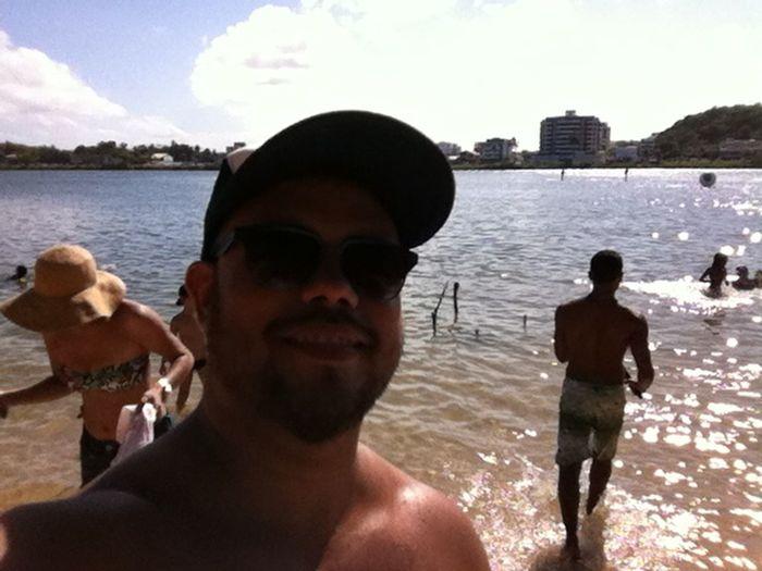 Se rolé na praia do Cristo Enjoying The Sun Verão Ilhéus Selfie