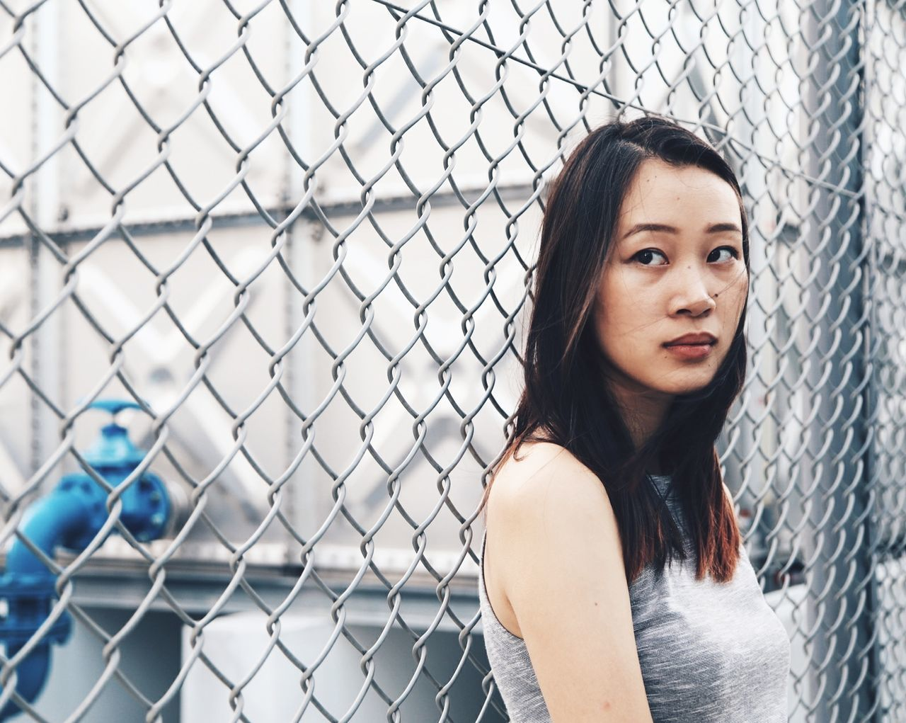 killer gaze Portrait Portrait Of A Woman Portrait Of A Friend Girl Woman Eye4photography  EyeEm Best Shots EyeEm Best Edits Portrait Of A Girl Colors Desaturated Neutral Singapore Gaze Faces Of EyeEm Urban Urban Portrait Urbex