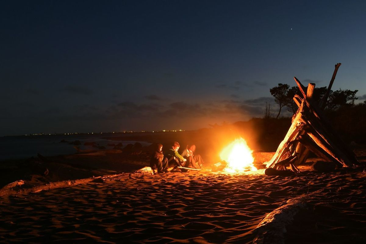 Enjoy The New Normal Adventure Club Beach Beach Fire Bonfire Beach Huts Driftwood Ocean Kids 43 Golden Moments On The Way Active Lifestyle  Long Exposure Relaxing Warmth Fire Showcase July Hidden Gems  Finding New Frontiers The Secret Spaces Live For The Story