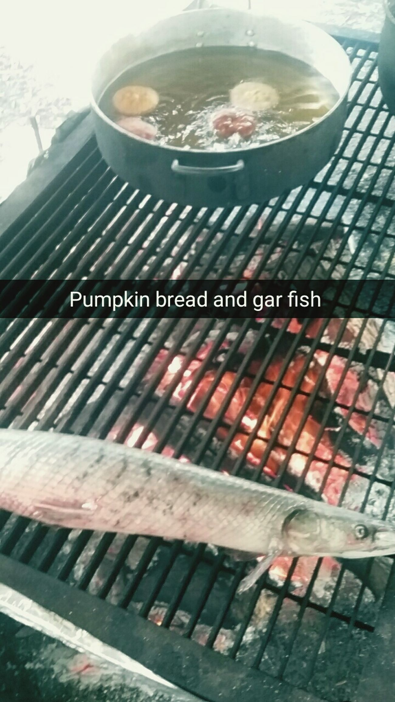 Outside Cooking Pumpkin Bread Chalo Nitka Garfish