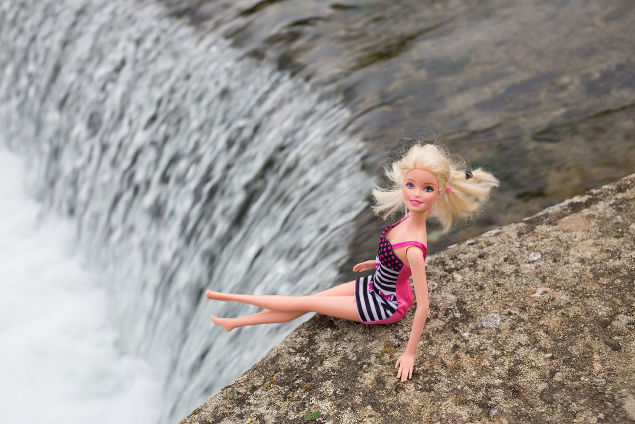 Ascension Day Ascension Water One Person Leisure Activity Fun Smiling People Day Outdoors Happiness Cheerful Adult Child Beauty Motion Nature Young Adult Children Only Portrait Blond Hair Barbie