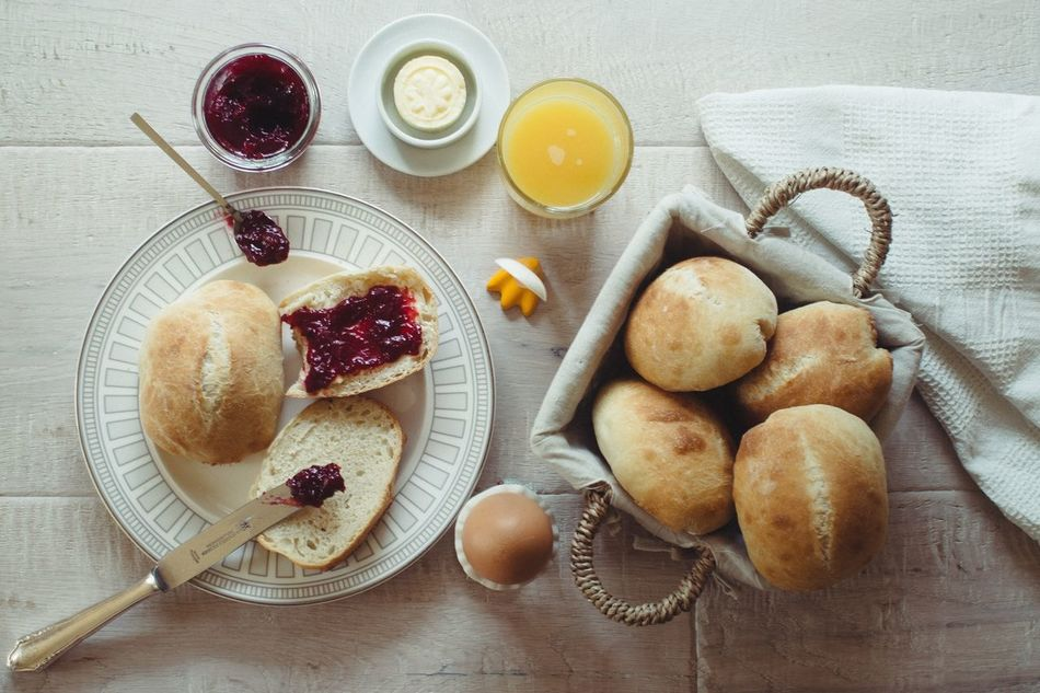 Beautiful stock photos of good morning, Bread, Directly Above, Drink, Food