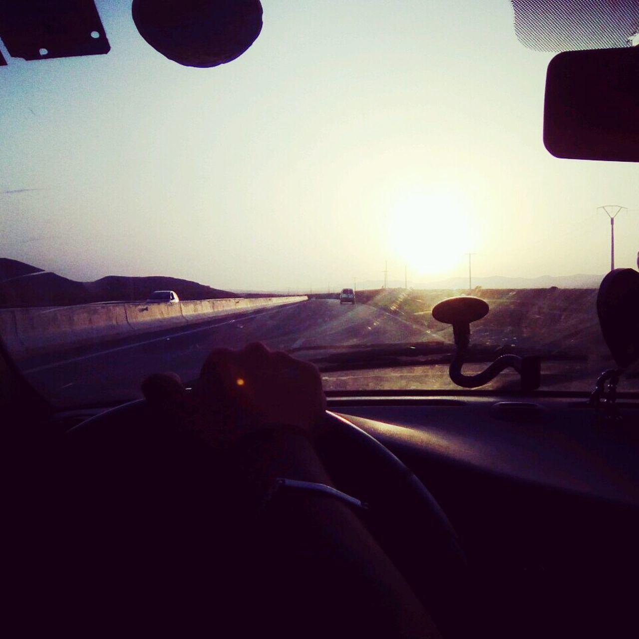 The Drive Sunset Sunlight Car Highway Speeding