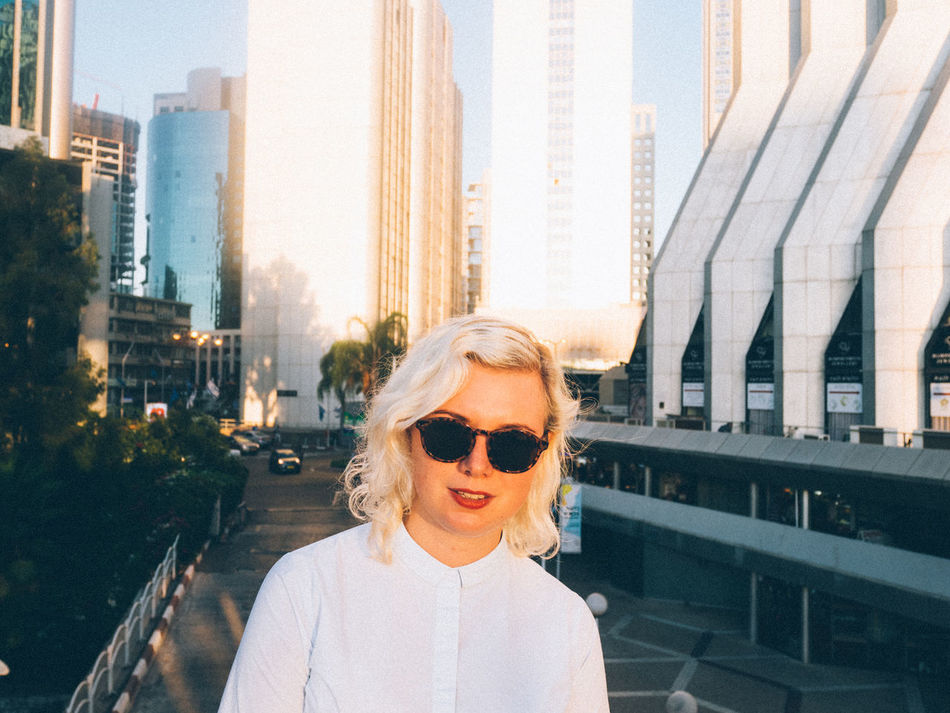 Beautiful stock photos of face, Architecture, Blonde Hair, Building Exterior, Cityscape