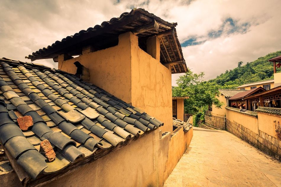Town Holiday Cloudy Day China Vi village