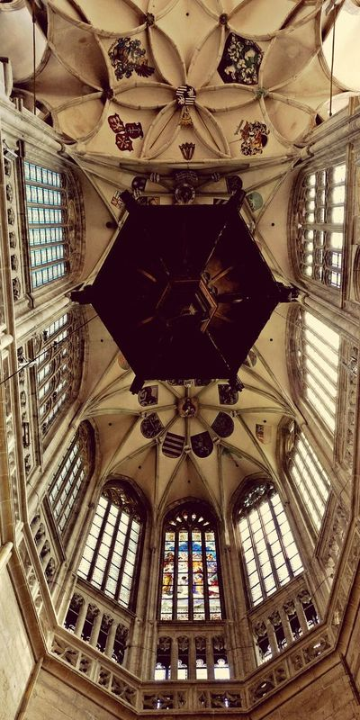 Look up!! Ceiling Architecture Indoors  Pattern Low Angle View No People Built Structure Architecture And Art Architecture Czech Czech Photos Czech Republic🇨🇿
