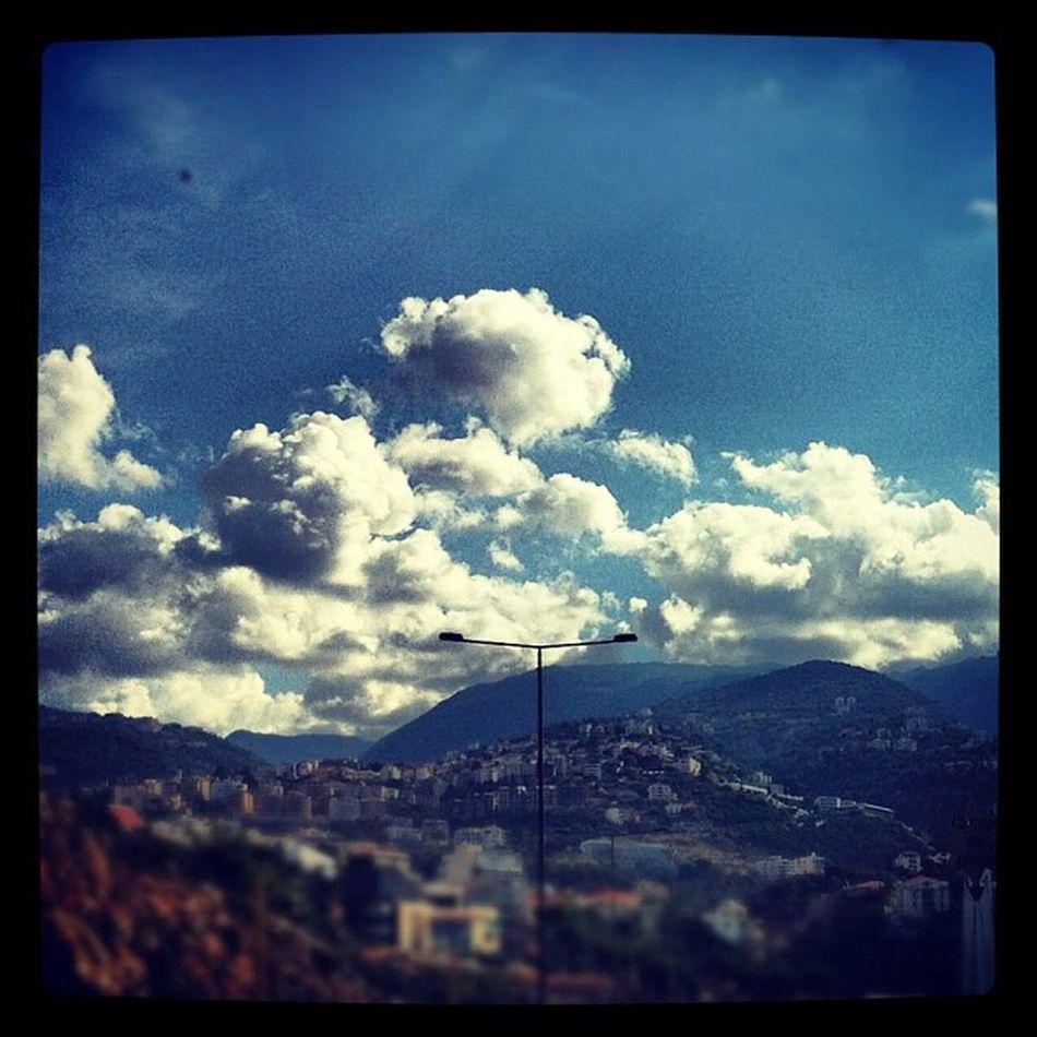 Morning Clouds Mountains Sky blue lebanon tabarja ghazir igerslebanon october 2012 instadaily igersbeirut instamood