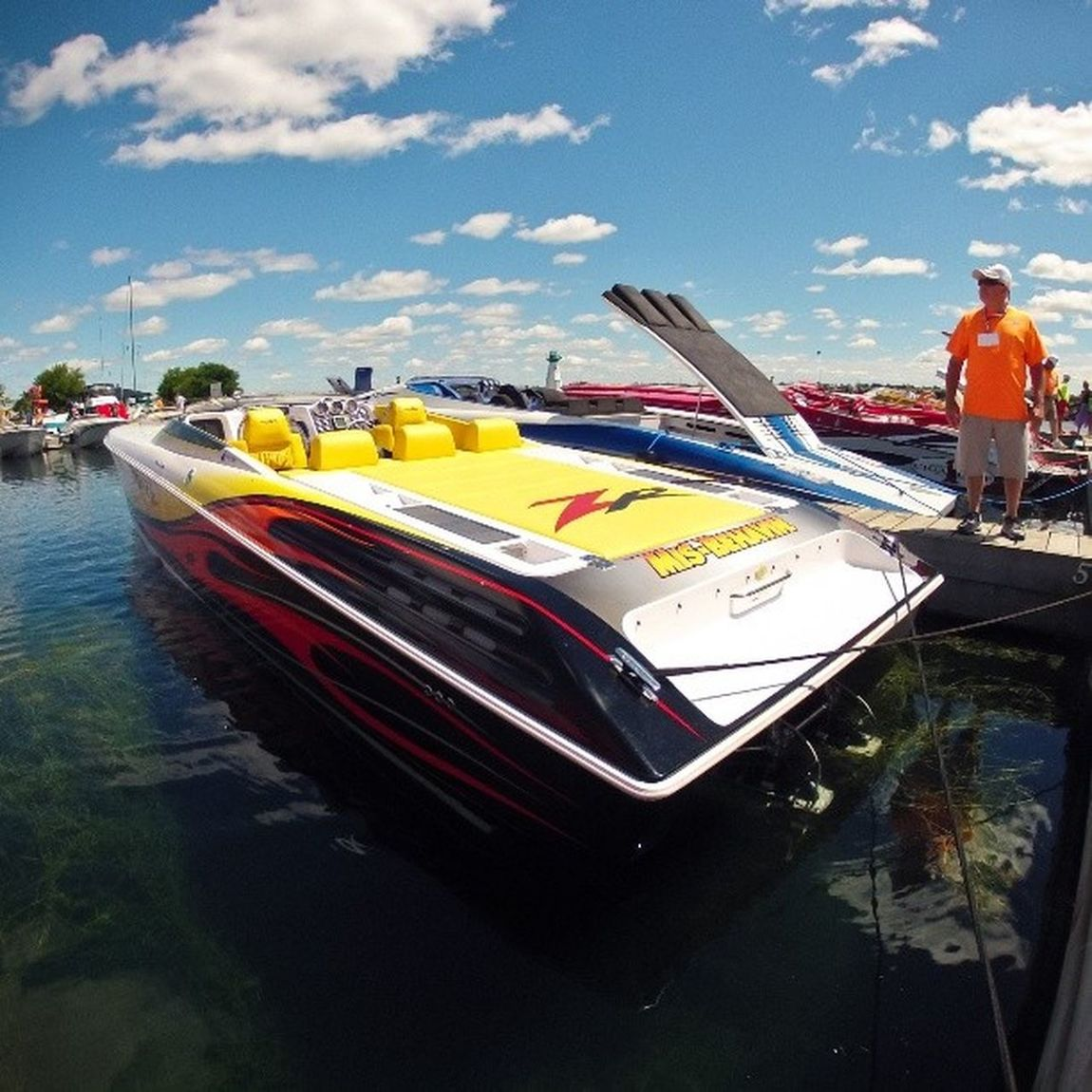 Summer memories: this Beast of a Boat took over our Bearth at SandraSLawnHarbour when the pokerrun came to town. To each their own. prescottontario igersottawa gopro