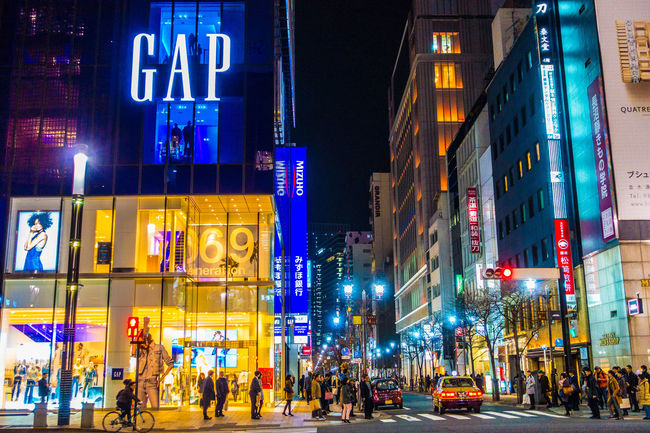 Ginza in Tokyo Ginza Nightphotography Night Photography Streetphotography Street Photography Cityscapes Light And Shadow Night Lights Architecture Building People Eye4photography  EyeEm Best Shots