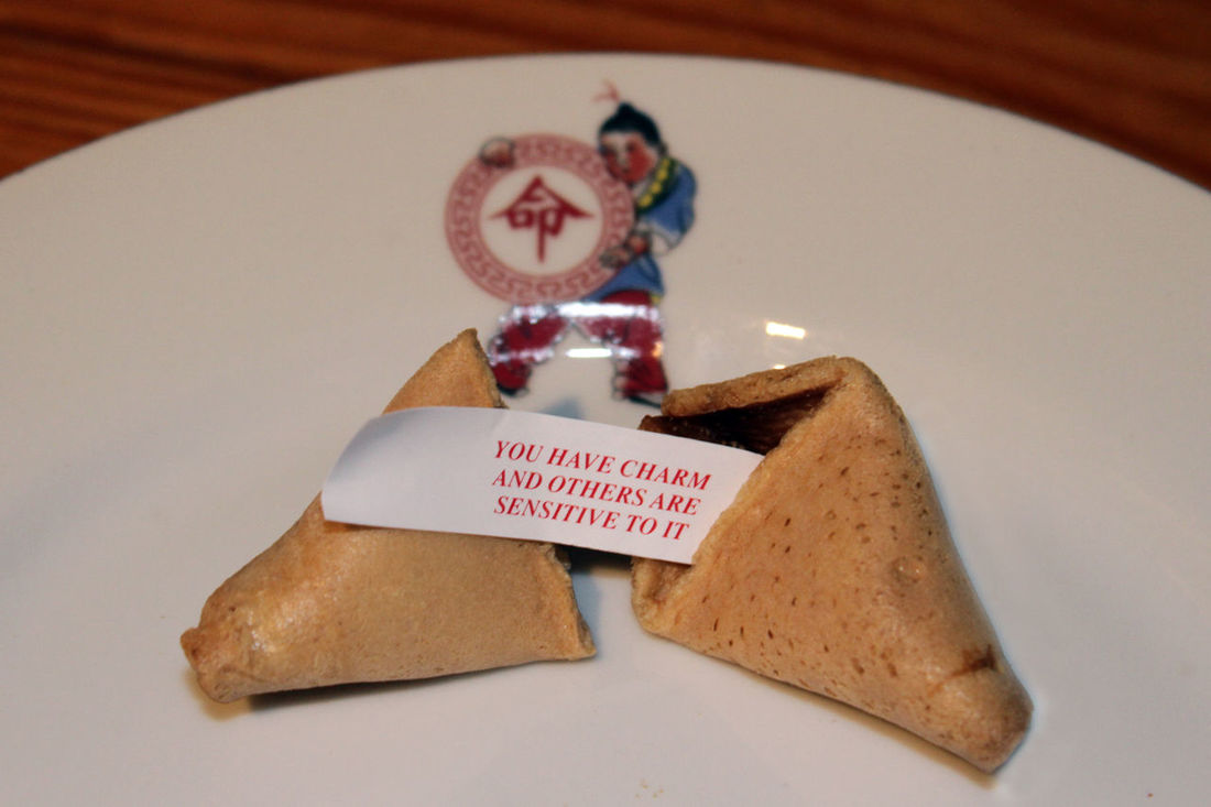 Happy new year Celebration China Chinese Chinese Food Chinese New Year Food Fortune Fortune Cookie Gung Hay Fat Choy New Year Plate Proverb Saying