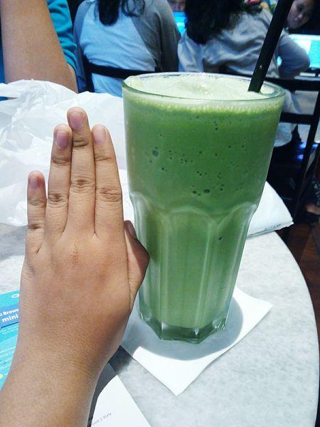 Little a hand....:thank u :-D Hands Drink Greentea Liberica GandariaCity Jakarta INDONESIA