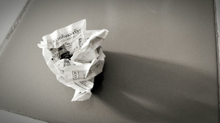 Lottery Lotto Thai Government Wastepaper Basket Crumpled Paper Crumpled Paper Waste Bin Badday Thailand
