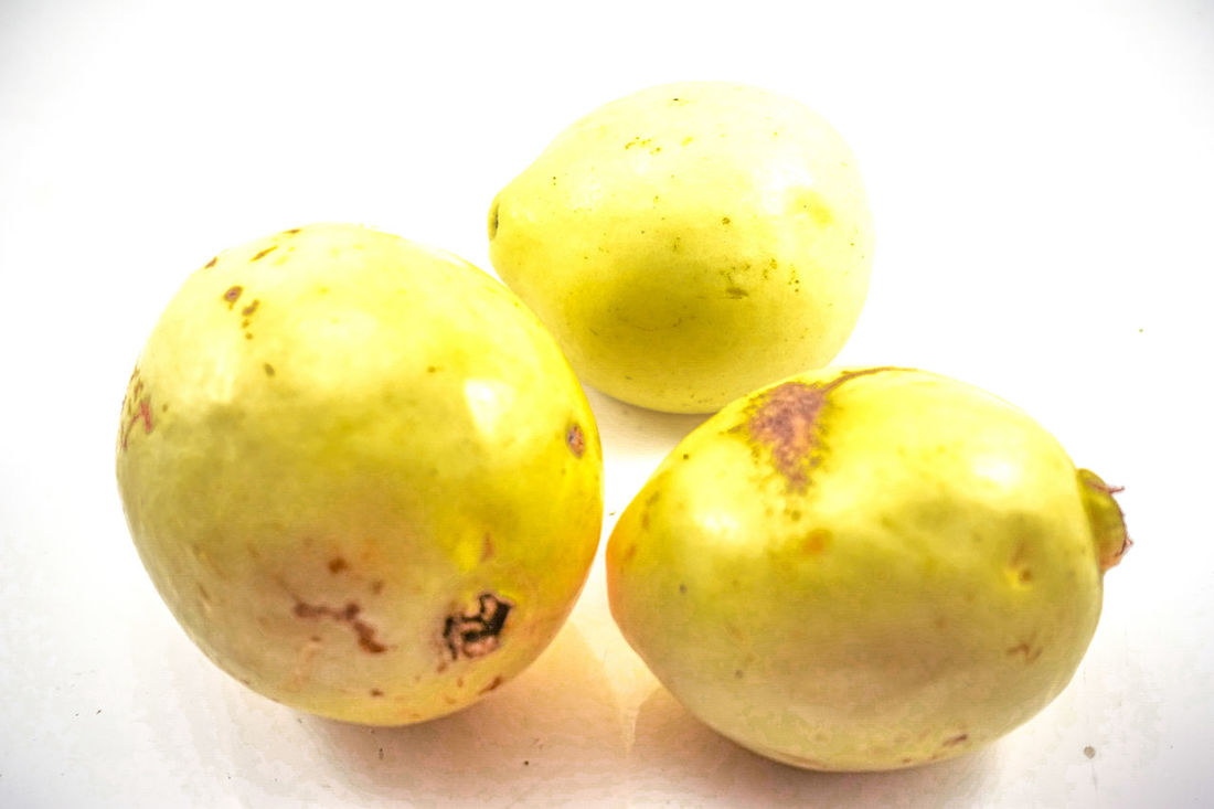 Paint The Town Yellow Close-up Day Food Food And Drink Freshness Fruit Guava  Guava Fruit Guavas Healthy Eating Indoors  No People White Background