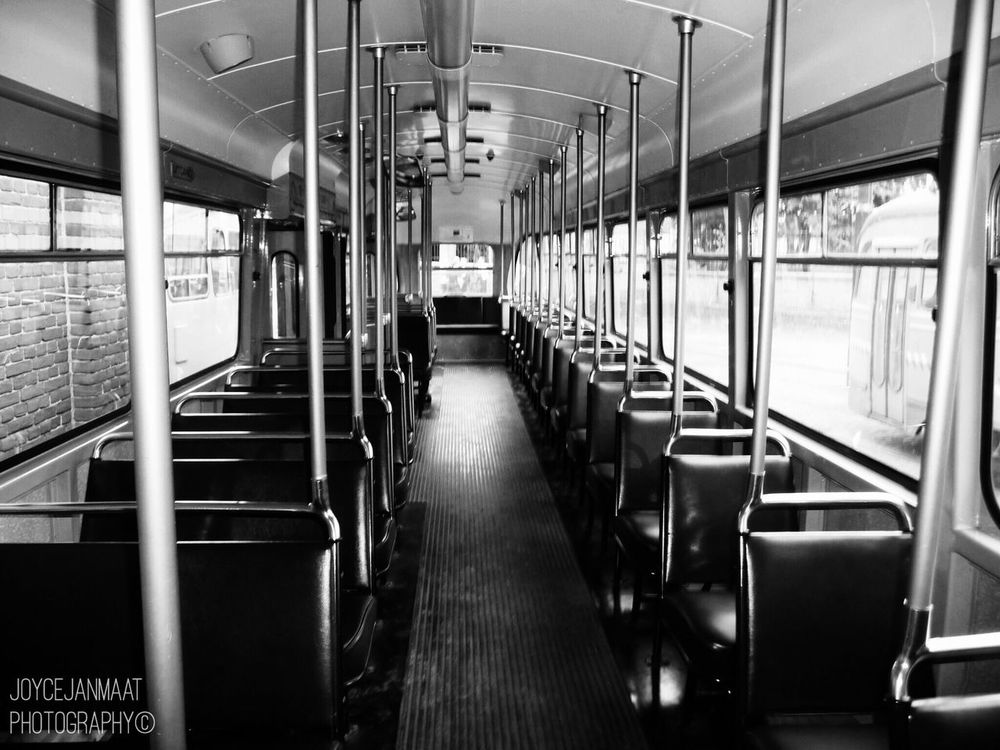 Transportation Rail Transportation Vehicle Interior PCC Tram Light And Reflection Dutch Netherlands Blackandwhite Iphonephotography Black And White Black & White Black And White Photography Iphoneonly Holland The Hague Chair Seat