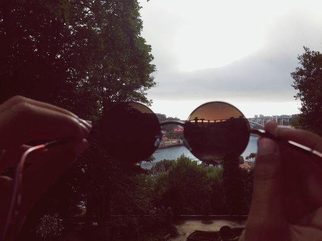 Porto Douro  Rio Douro Palaciodecristal Sunglasses Friends Bridge Pontedaarrabida Cloudy Day