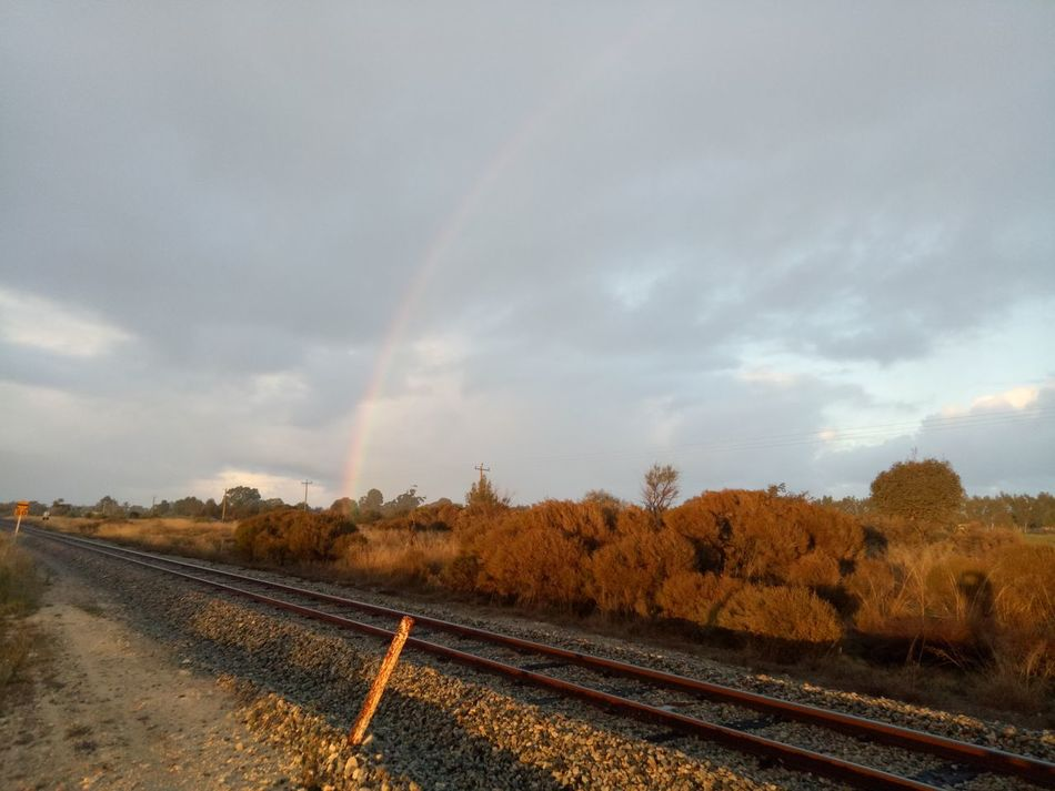 Rainbow the morning after looking south west swan valley region