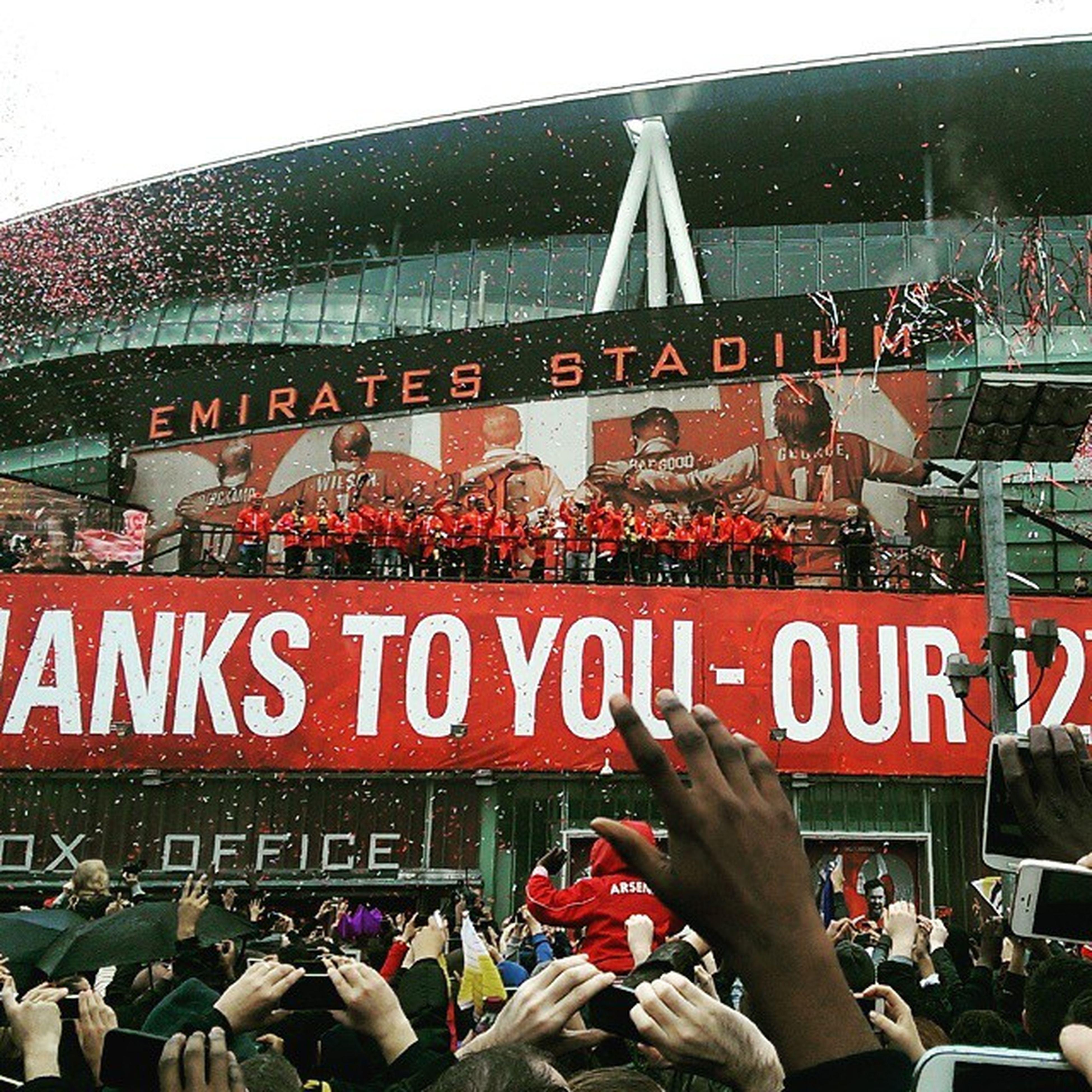 12 times. WeAreArsenal TheFACup Northlondonisred Red AFC UTA Arsenal 12thman 12times Gunners YaGunnersYa