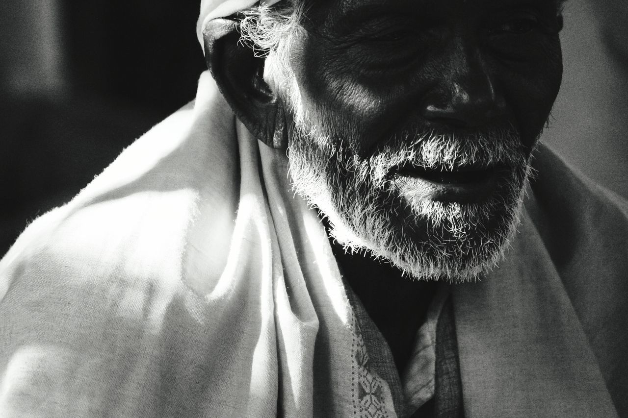 monk One Person One Man Only Only Men Close-up Portrait Men Blackandwhite Tample, Indian Culture  Kumbhmela Hindu Temple Baba Sadhu Of India Shunlight Beard Oldman Portraits Sunlight Sun Tempal Bnwportrait EyeEm Best Shots - Nature