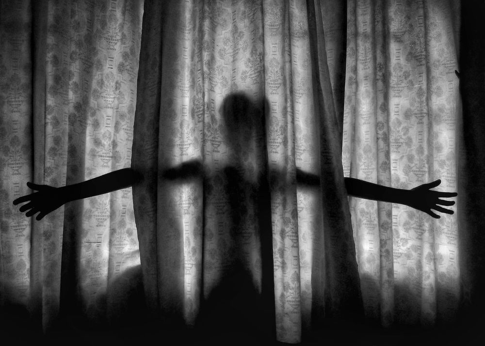 The Covered Reality. Curtain Indoors  One Person People Drapes  Day Real People Black And White Light And Shadow Minimal Composition Black & White Black&white EyeEm LOST IN London Light And Shadow Outdoor Photography Breathing Space Imagination And Creative EyeEmNewHere Street Photography EyeEm Selects Street One Man Only StillLife Silhouette Full Length Full Frame The Week On EyeEm