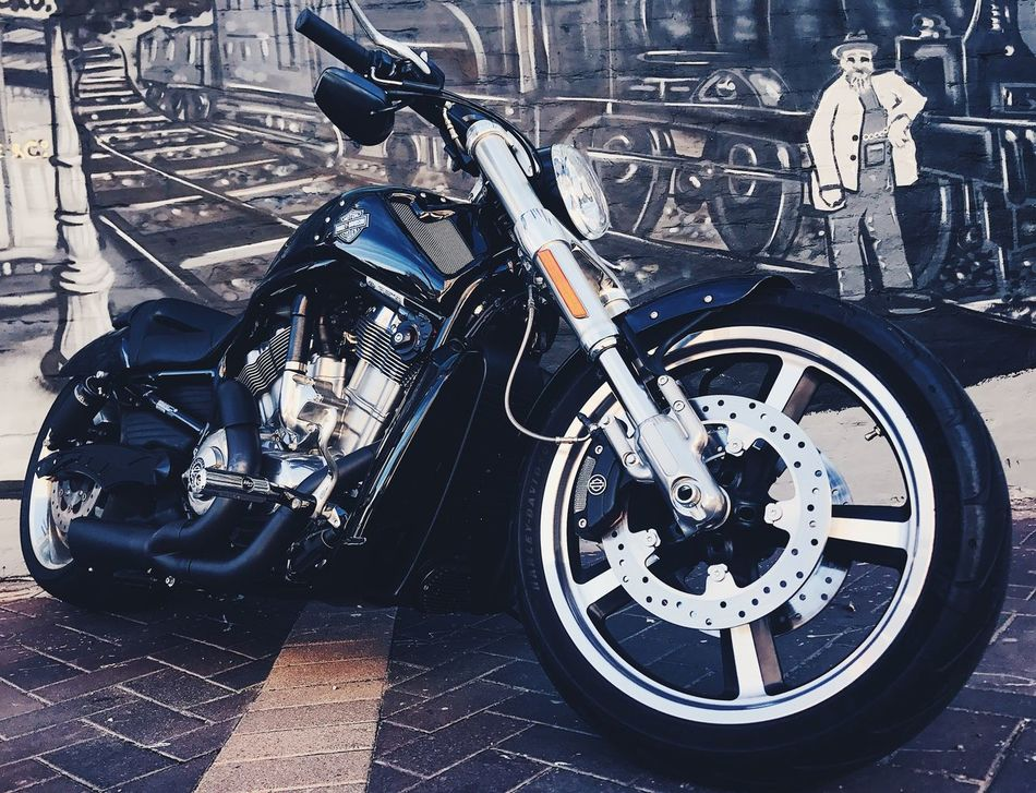 Transportation Mode Of Transport Stationary Motorcycle Land Vehicle Day No People Outdoors Graffiti Art Street Streetphotography Harleydavidson Urban