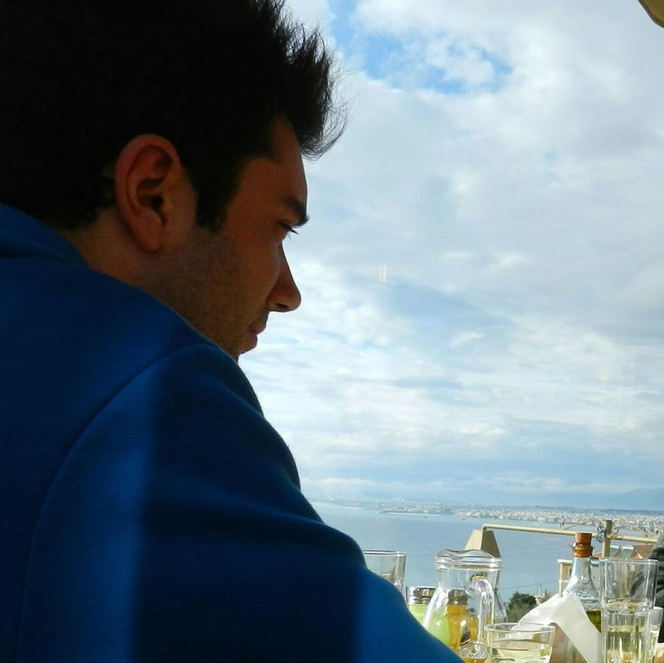 No Edit/no Filter Tradition EyeEmNewHere Town View High Ground Sea And Sky Kalamata Greece Pelloponisos Rainyseason Sea Sky Scenic View Roadtrip Nikkonphotography Scenic Landscapes Melancholy Myself & I Cloudscape Seaview Seashore Tsipouro Traditional Music Blue Sky Blue Hoodie