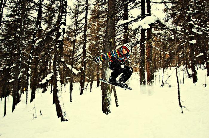 Snowboarding France Winter White By CanvasPop