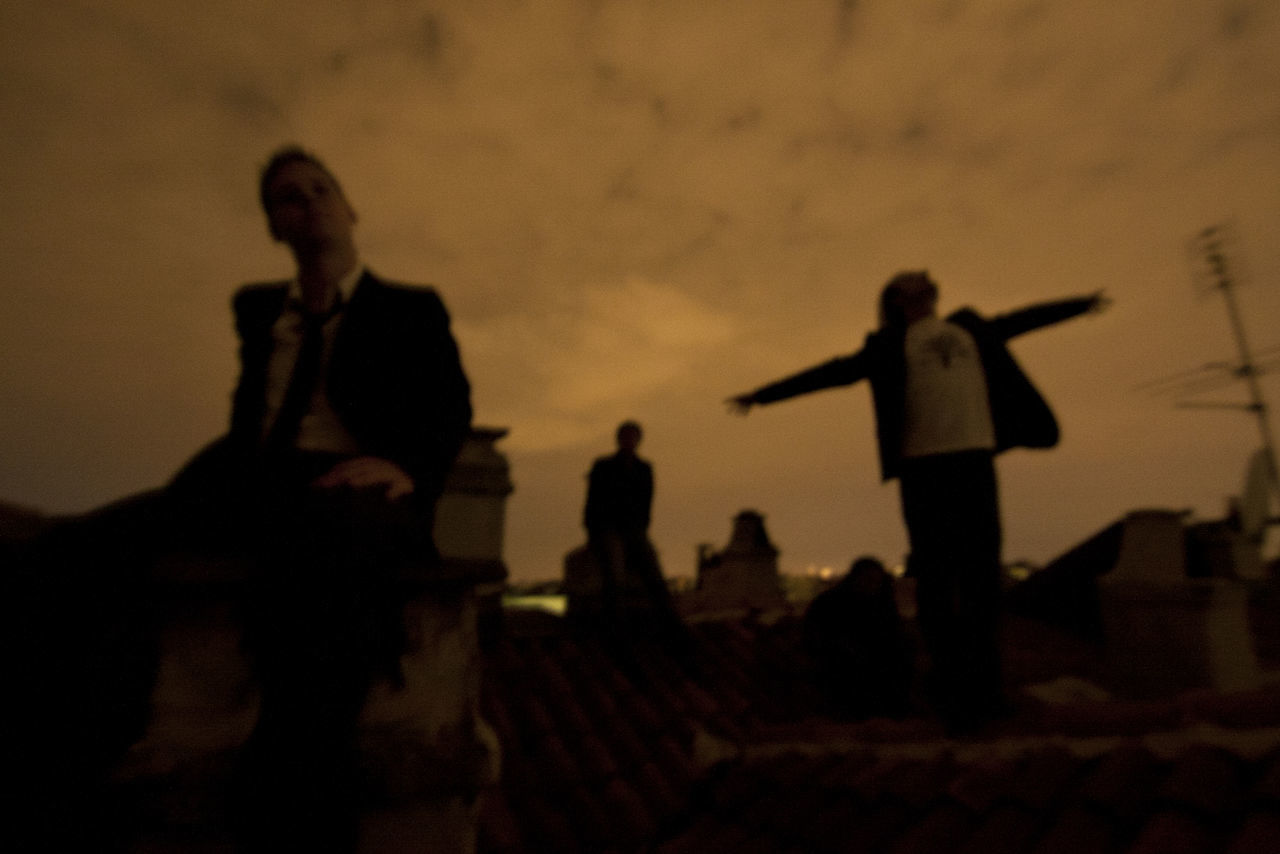 Antenna Band Dark Enjoyment Friendship Fullness Fun Group People Happyness Leisure Activity Lifestyles Men Mistery Musicians Night Outdoors Real People Roofs Sepia Side View Silhouette Sky And Clouds Togetherness Learn & Shoot: After Dark
