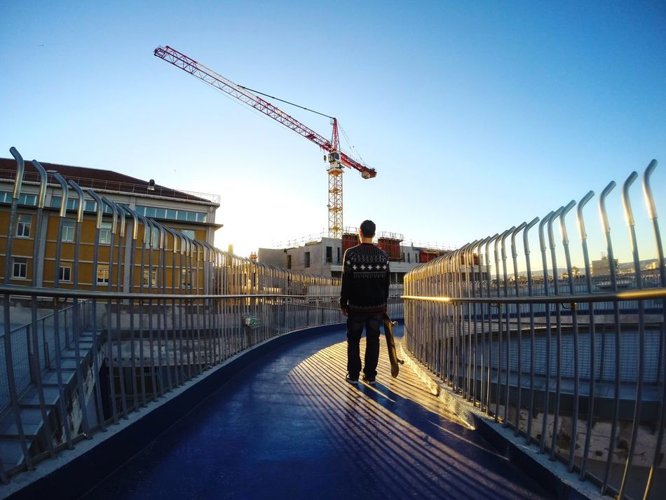 Beautiful stock photos of city, Architecture, Blue, Bridge - Man Made Structure, Building Exterior