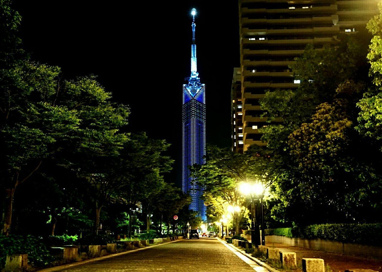 Fukuoka,Japan Fukuoka-shi Fukuoka-japan Fukuoka City  Fukuoka Tower Night Photography Nightshot Nightphotography Night View Night Lights