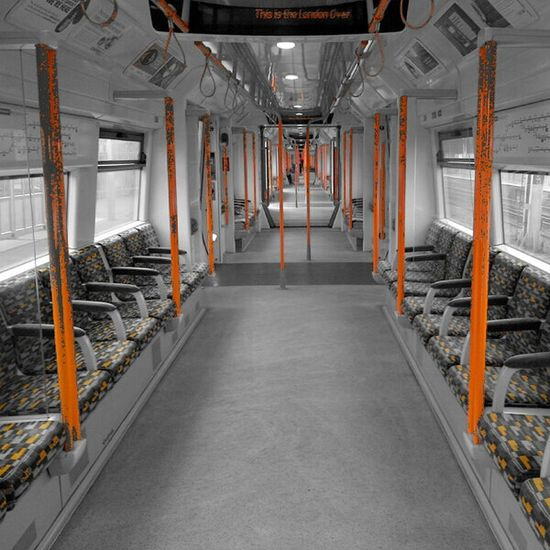 Subway Train Transport Empty Train