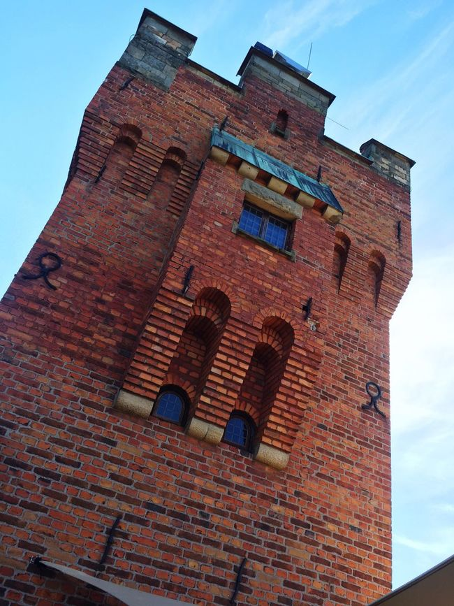 Architecture Low Angle View Built Structure Brick Wall Building Exterior Window Tower Old Wall - Building Feature History Brick Sky Tall Tall - High Fortified Wall Sunny The Past Outdoors Day Medieval