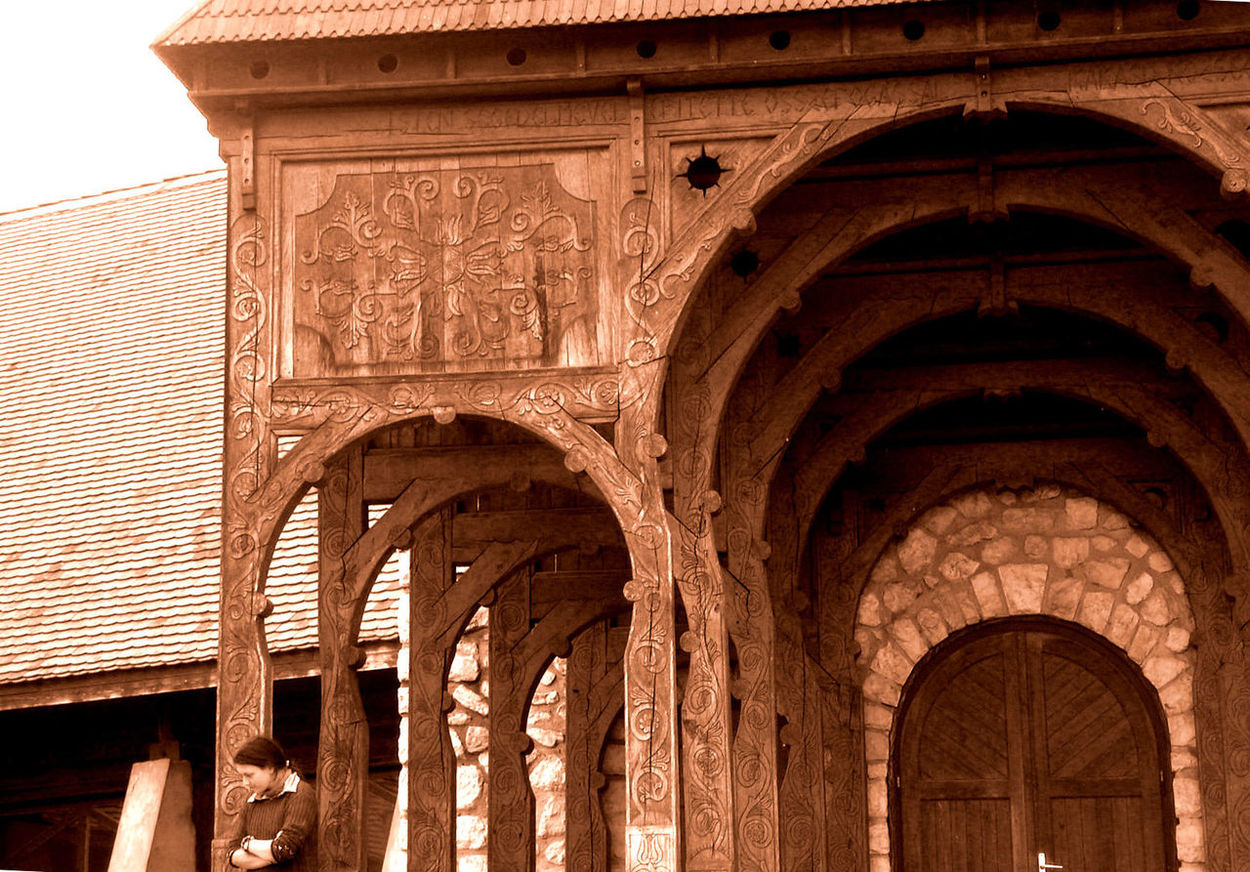 Székely gate with a woman Arch Architecture Built Structure Erdély History One Person Szekely Gate Transylvania
