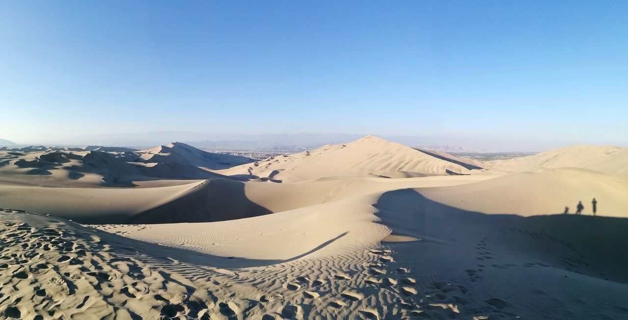 EyeEm Selects desert... Sand Landscape Sand Dune Scenics Mountain Nature Outdoors Beauty In Nature Sky Clear Sky Day No People Fresh 3 Eye4photography  Leica Huawei P9 EyeEm Best Shots Adult Adults Only Light And Shadow Dunes Deserts Around The World