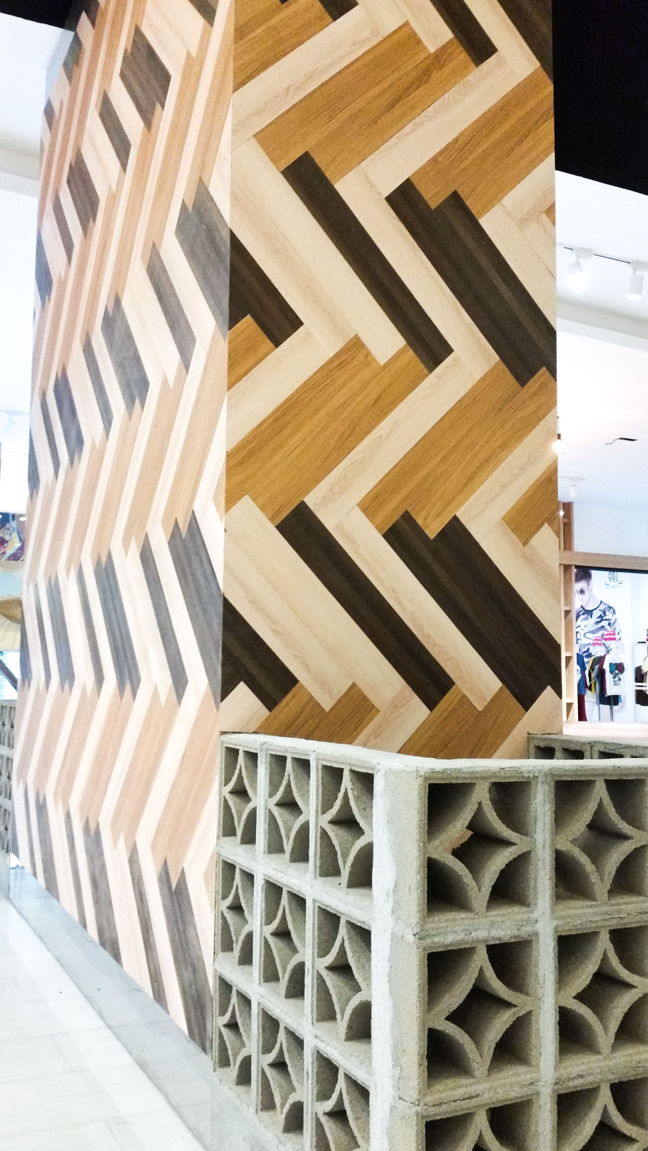 Pattern No People Day Indoors  Close-up Pillars Shopping Mall Architecture Indoors  Wood Concrete Patterns Concrete Pattern